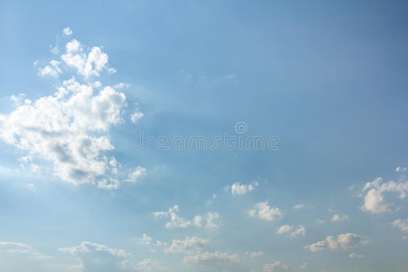 Beautiful blue sky and clouds royalty free stock image