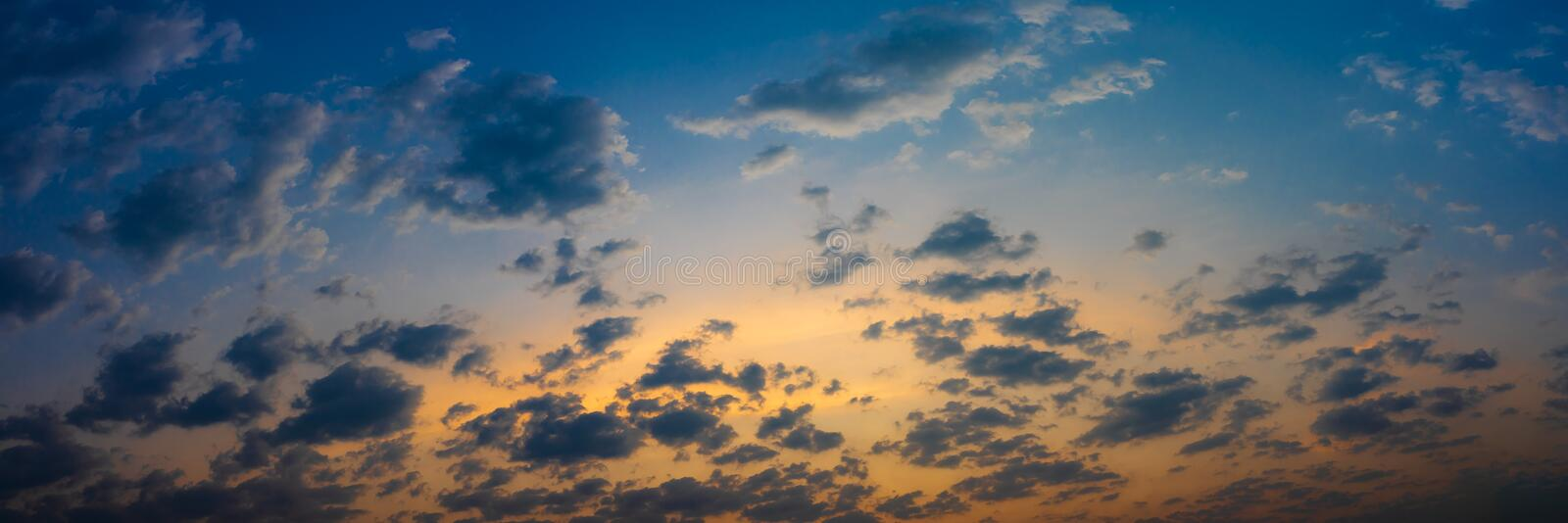 Beautiful blue sky and cloud natural background royalty free stock image