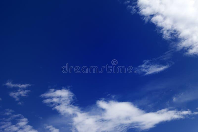 Beautiful blue sky with clouds stock photos
