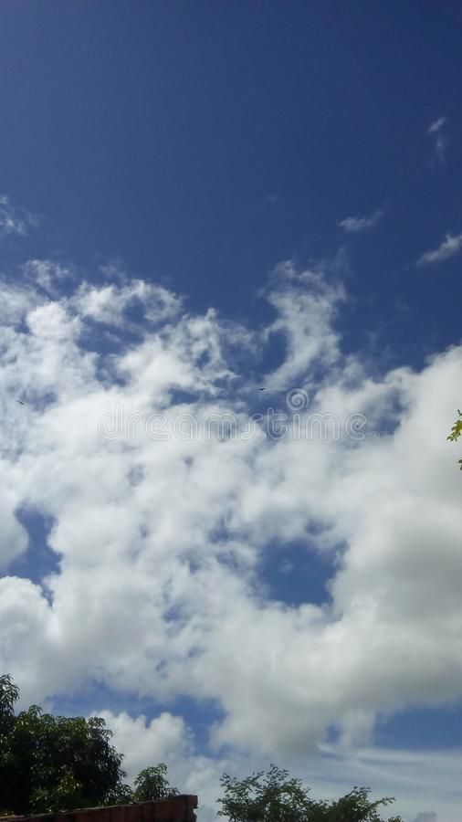 Beautiful blue sky with clouds. Beautiful blue sky clouds nuture royalty free stock photo