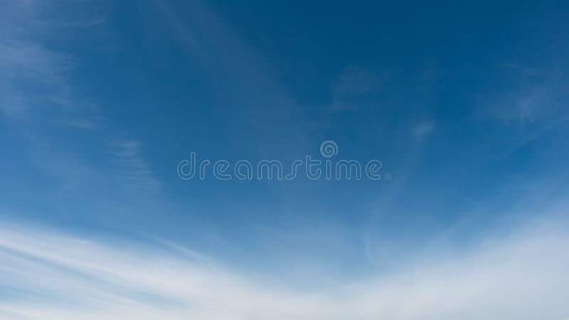 Beautiful blue sky. Sky and clouds, qualitative shoot, no birds and noise. stock image