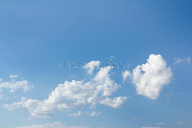 Beautiful blue sky and clouds. For real estate sky replacement stock image