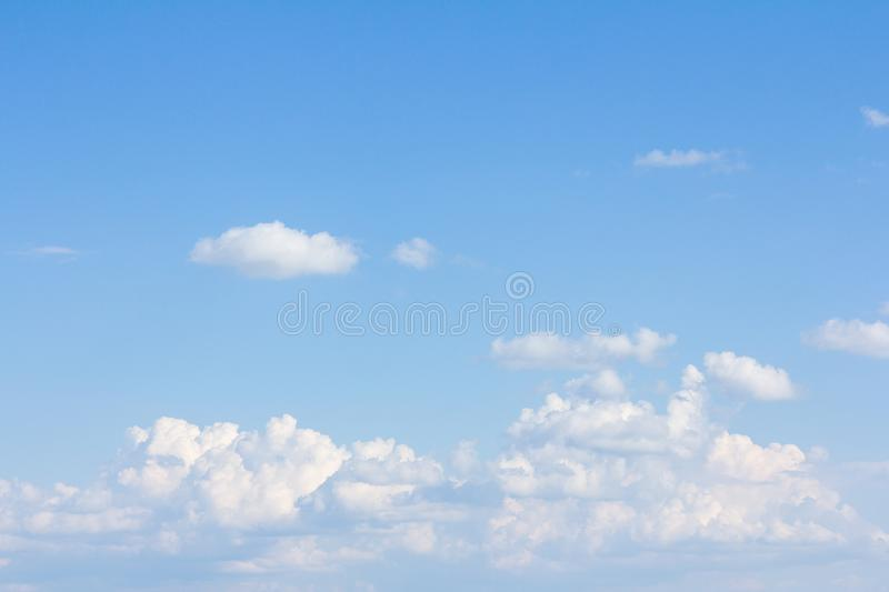 Beautiful blue sky and clouds. For real estate sky replacement stock photos