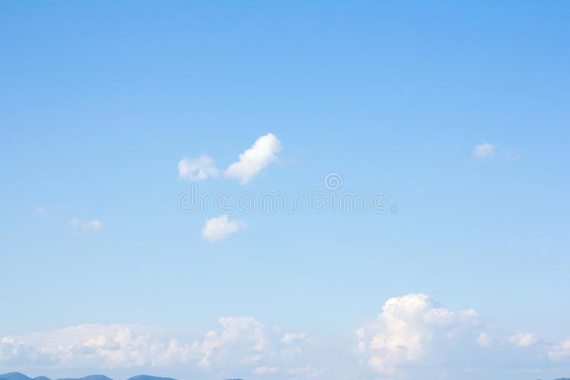 Beautiful blue sky and clouds. For real estate sky replacement stock photo