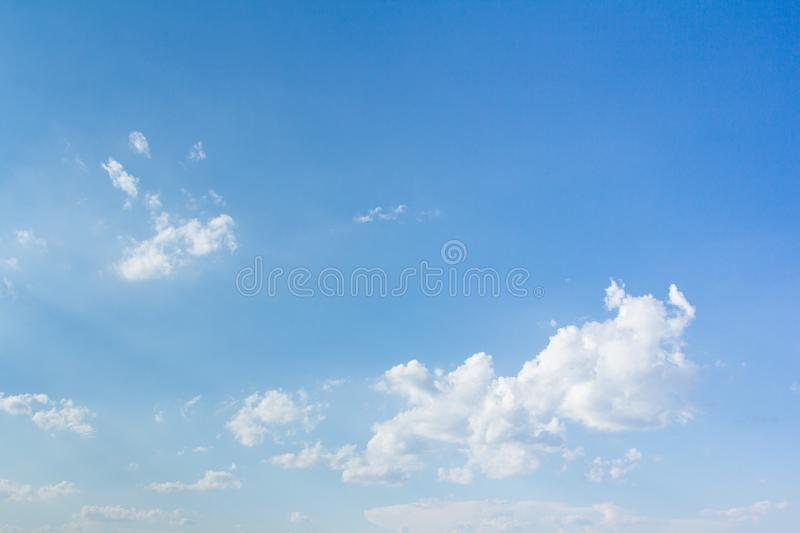 Beautiful blue sky and clouds. For real estate sky replacement royalty free stock photography