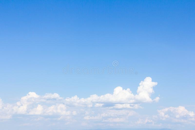 Beautiful blue sky and clouds stock photography