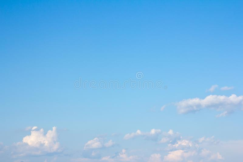 Beautiful blue sky and clouds. For real estate sky replacement stock photography