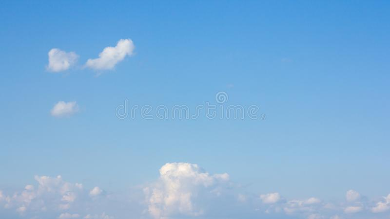 Beautiful blue sky and clouds. For real estate sky replacement royalty free stock images