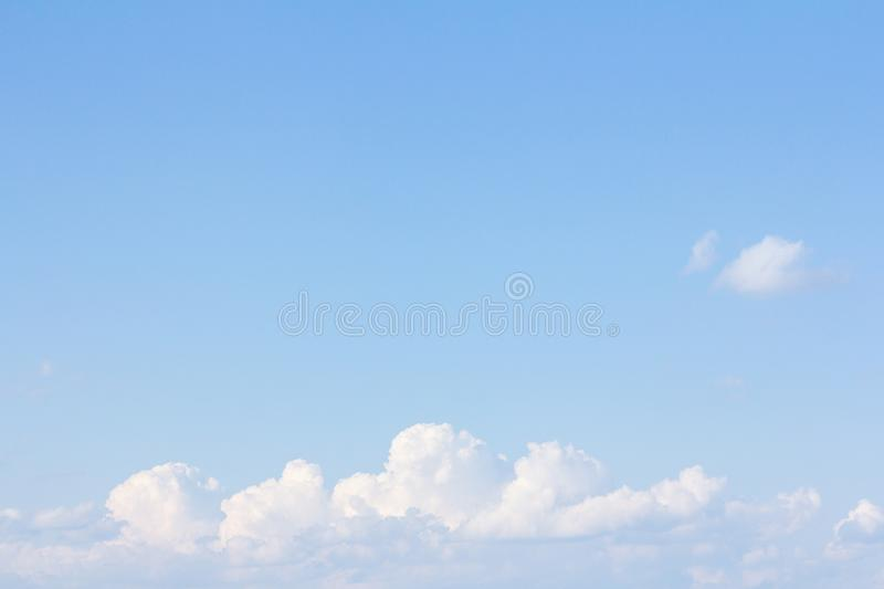 Beautiful blue sky and clouds. For real estate sky replacement royalty free stock photo