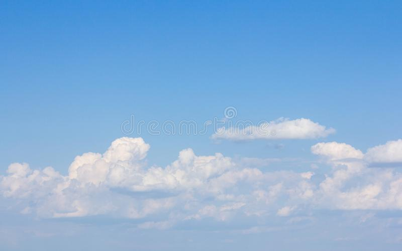 Beautiful blue sky and clouds. For real estate sky replacement royalty free stock image