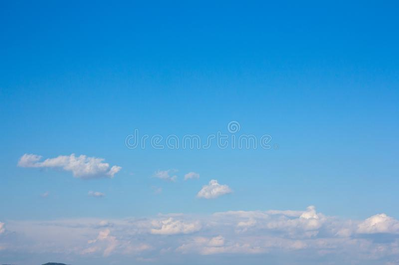 Beautiful blue sky and clouds stock image