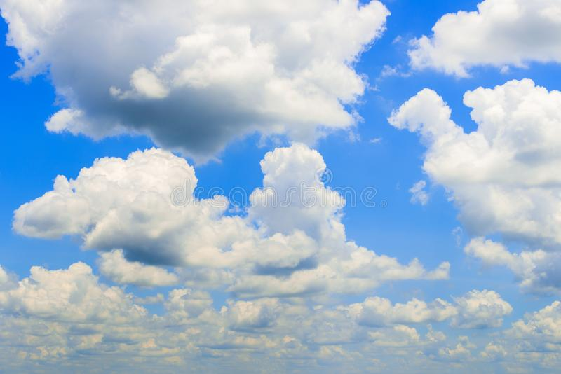 Beautiful blue sky and clouds. Sun rays royalty free stock photography