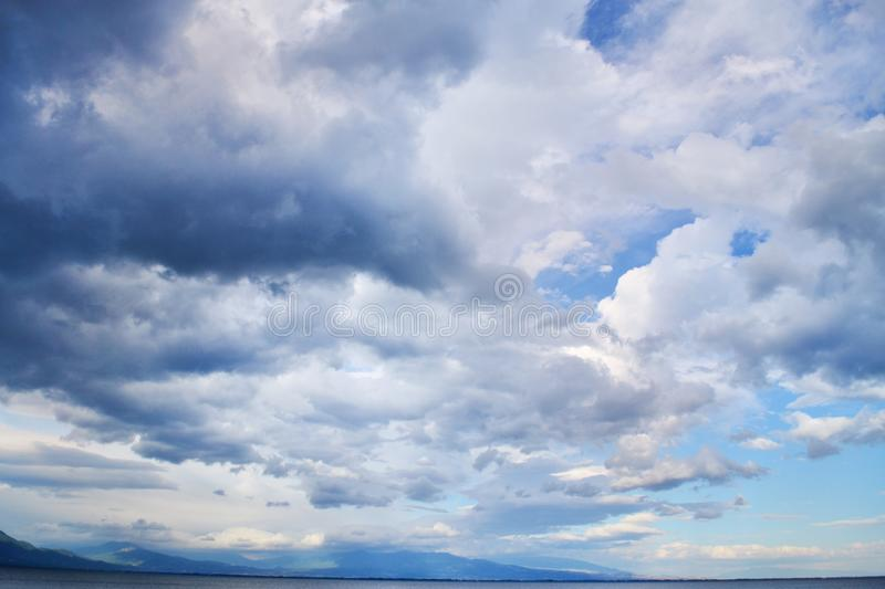 Beautiful Blue Sky with Dramatic Clouds royalty free stock photography