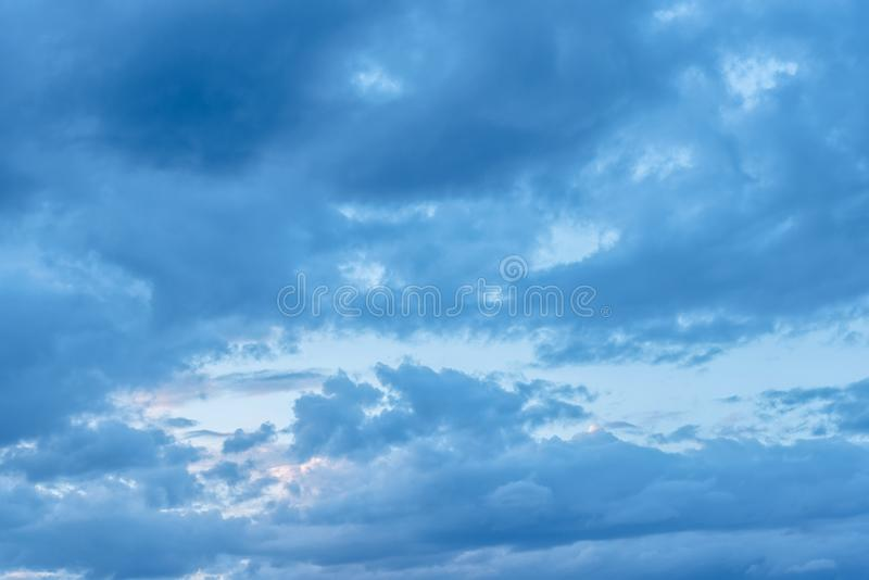 Beautiful Blue Sky with Dramatic Clouds. Nature Spectacles. Beautiful Blue Sky with Dramatic Clouds. A Nature Spectacles backgrounds, color, beauty, white stock image