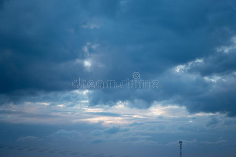 Beautiful Blue Sky with Dramatic Clouds. Nature Spectacles. Beautiful Blue Sky with Dramatic Clouds. A Nature Spectacles backgrounds, color, beauty, white royalty free stock images
