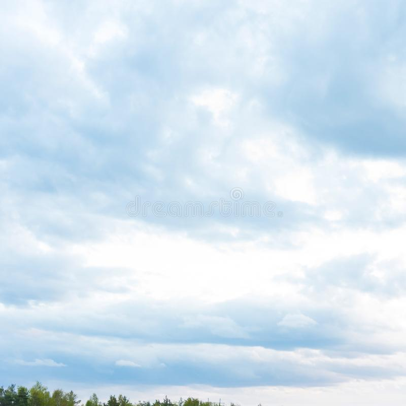 Beautiful Blue Sky with Dramatic Clouds. Nature Spectacles. Beautiful Blue Sky with Dramatic Clouds. A Nature Spectacles backgrounds, color, beauty, white royalty free stock image