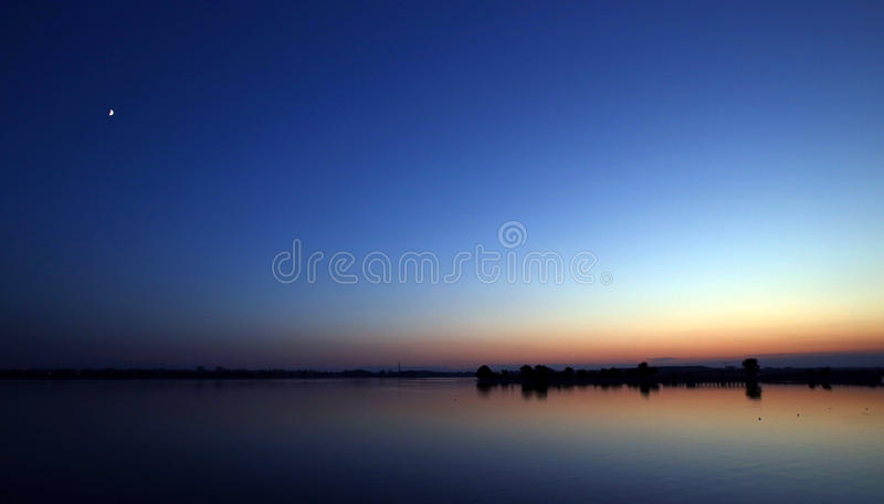 Beautiful blue sky landscape royalty free stock photo
