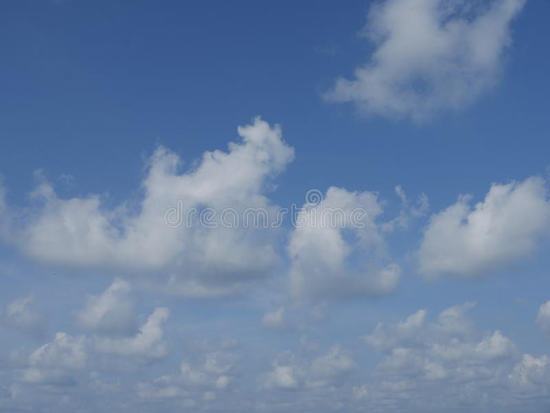 Beautiful blue sky in summer day. Beautiful blue sky nad white clound in summer day royalty free stock photography