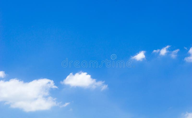 Beautiful blue sky with white cloud on daylight and copy space royalty free stock photo