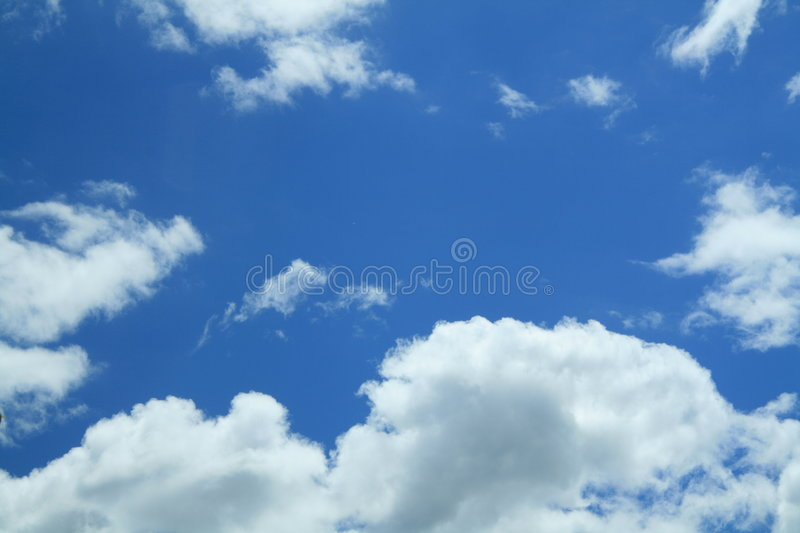Beautiful blue sky with white clouds royalty free stock photo