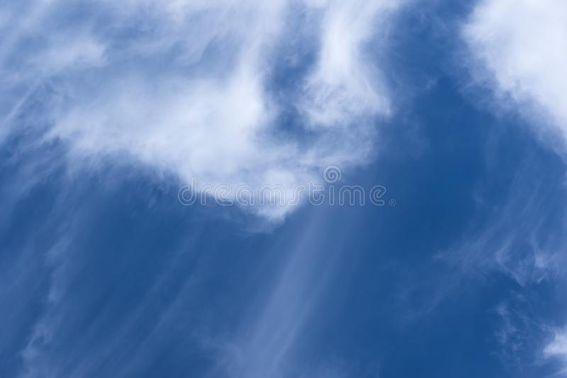 Beautiful blue sky and white clouds. Copy space for text stock photos