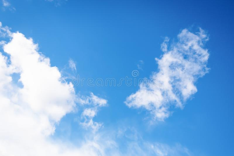 Beautiful sky with white clouds. Looks like an angel wings. Beautiful blue sky with white clouds. Looks like an angel wings royalty free stock images