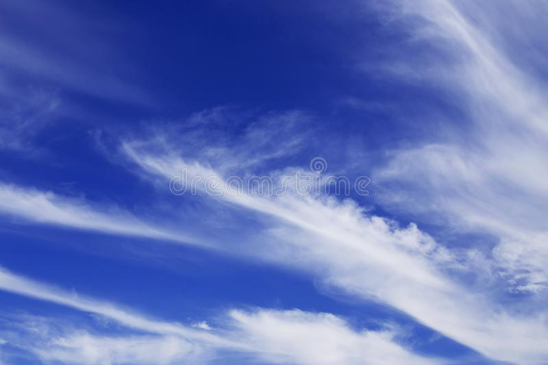 Beautiful blue sky with white clouds. Nature abstract background. Beautiful blue sky with white clouds. Nature bright abstract background stock images