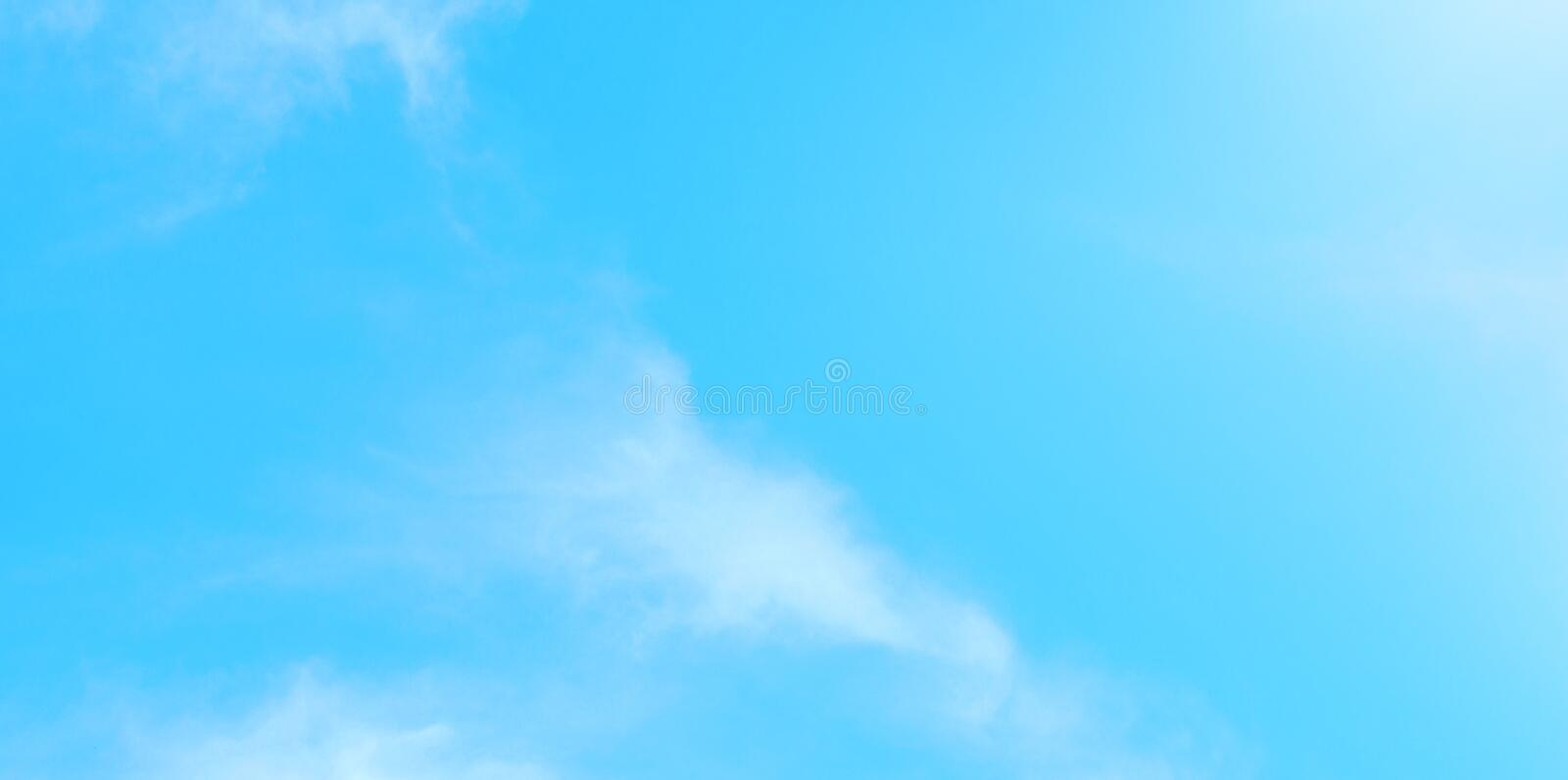 Beautiful blue sky with white clouds. Nature abstract background. Beautiful blue sky with white clouds. Nature bright abstract background royalty free stock images