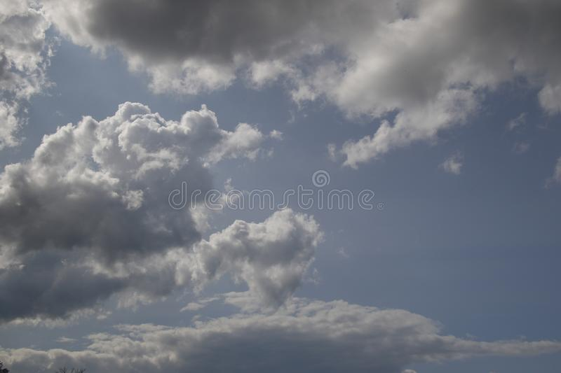 Beautiful cloudy day, full of possibilities royalty free stock photos