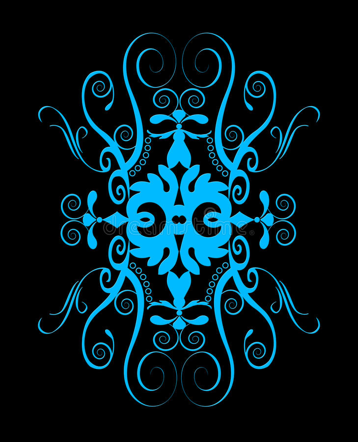 Beautiful blue spiral ornament