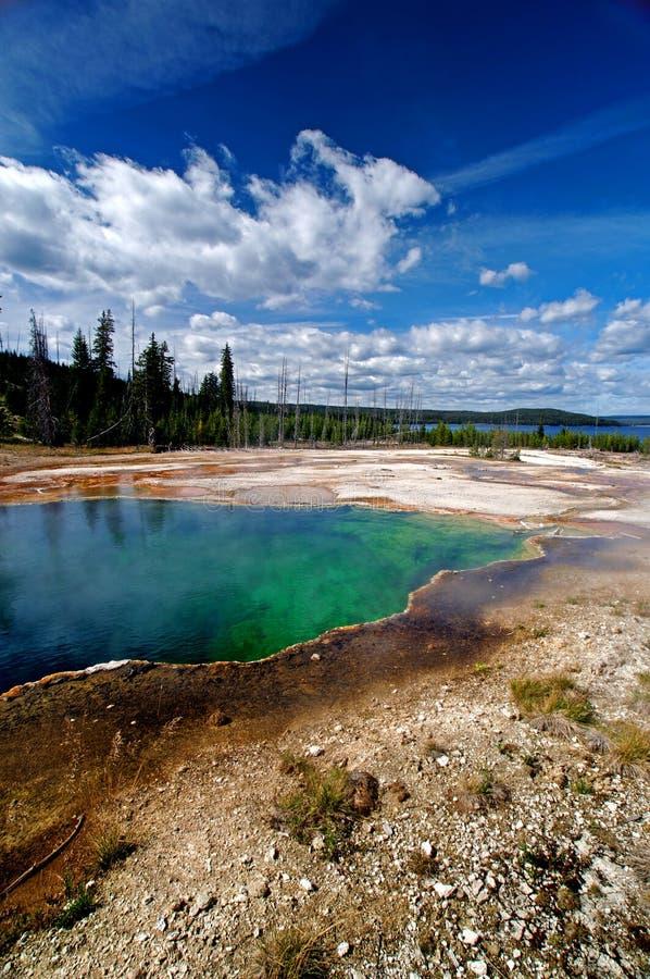 Free Beautiful Blue Yellowstone Hot Springs Royalty Free Stock Photos - 12727748