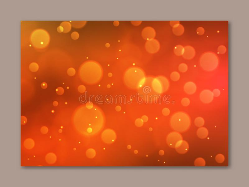 Beautiful blurred background in orange and yellow stock illustration