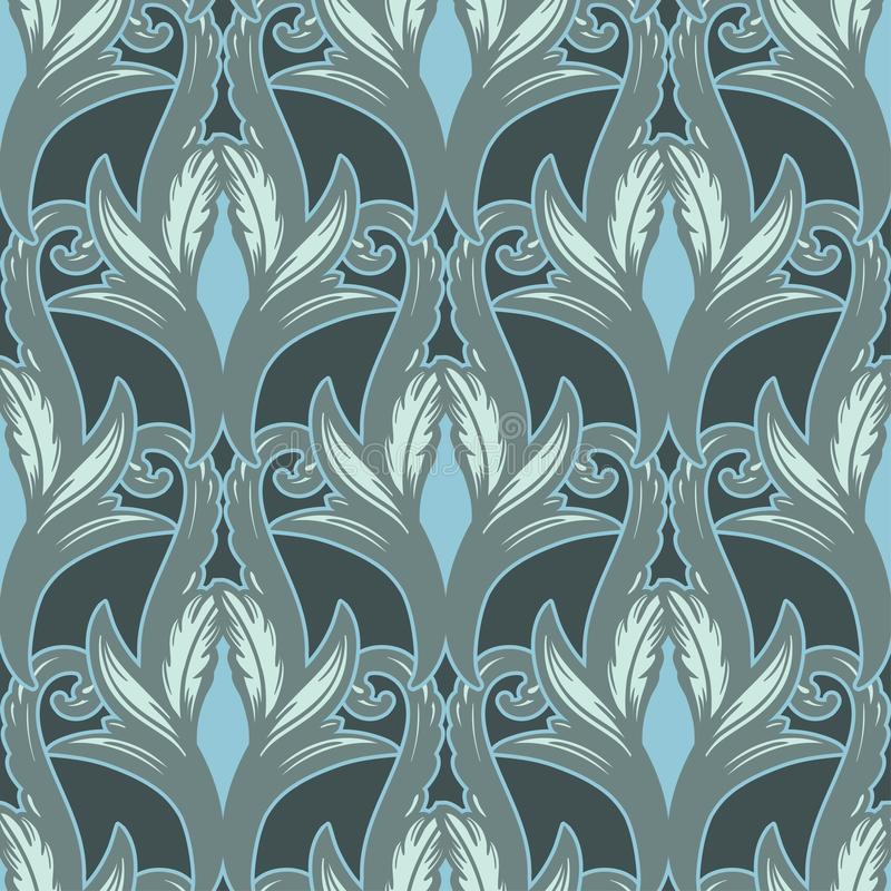 Beautiful bohemian arabesque seamless ornament. Baroque tattoo style pattern. Vintage ornate vector wallpaper vector illustration