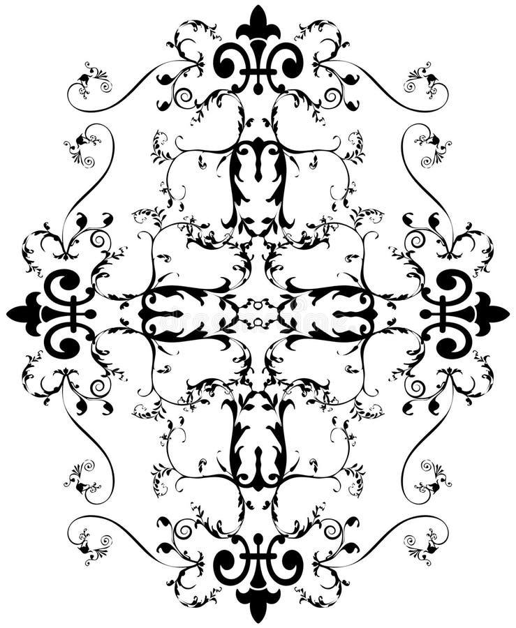 Beautiful bohemian damask vector illustration