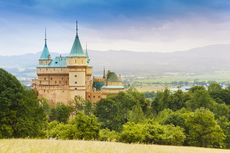 Beautiful Bojnice castle stock photos