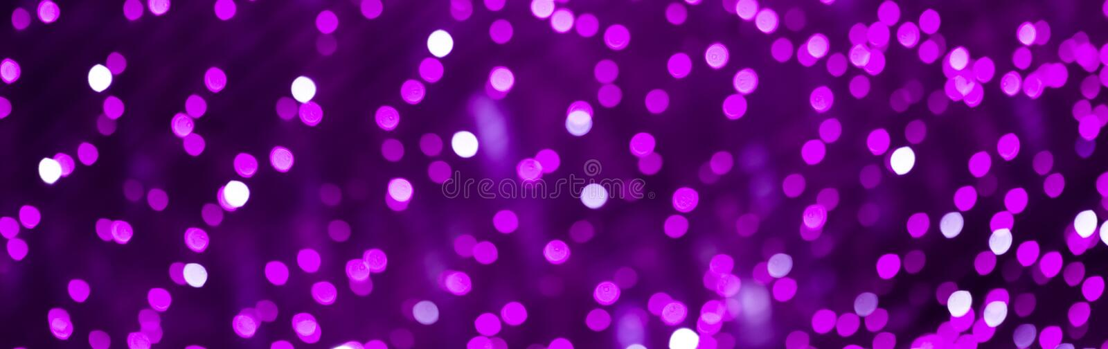 Beautiful Bokeh Purple lilac gradient Background. royalty free stock photography