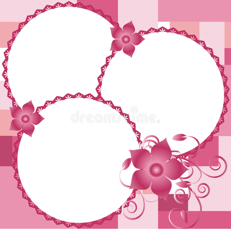 Beautiful border for pictures with flowers,vector vector illustration