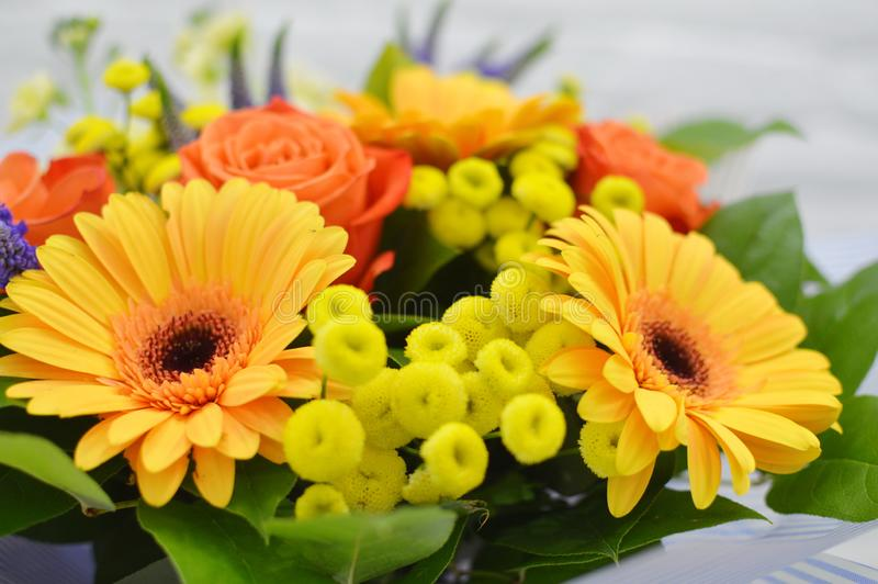 Beautiful bouquet of colorful  flowers. stock image
