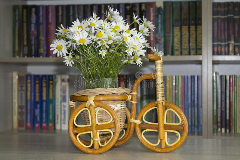 Beautiful bouquet of daisies in vase stock images