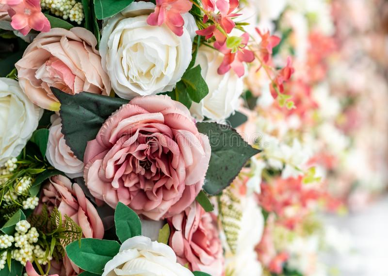 beautiful bouquet flower with copy space for background royalty free stock image