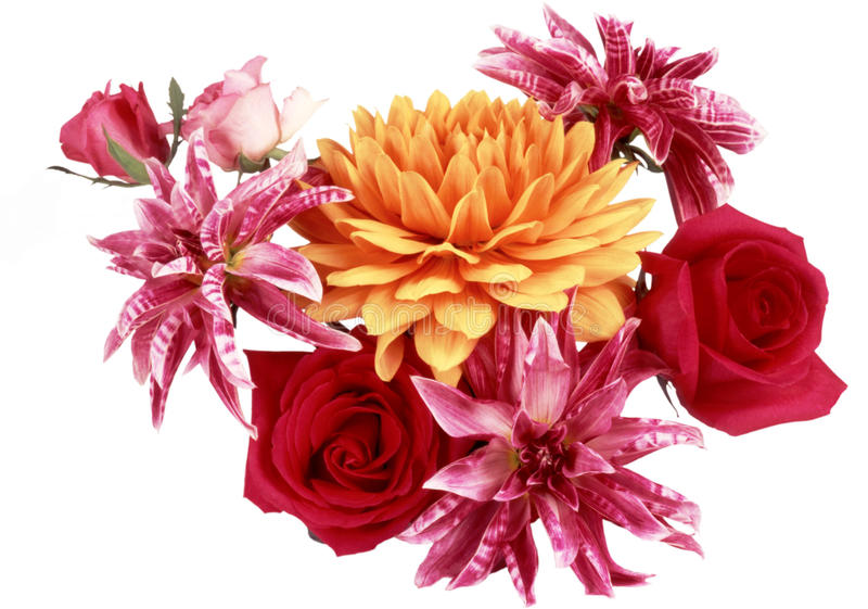 Download Beautiful Bouquet Of Flowers Red And Yellow Stock Photo