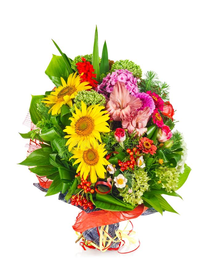 Beautiful bouquet with fresh flower. stock photography