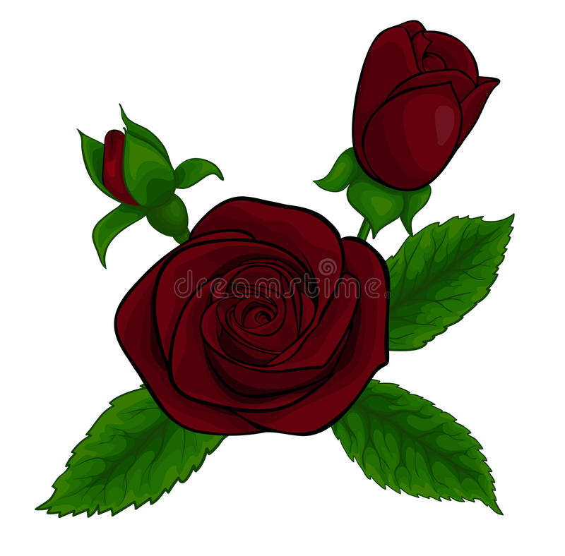 Download Beautiful Bouquet Of Red Roses, Decorative Floral Design Element Stock Vector - Image: 28189685