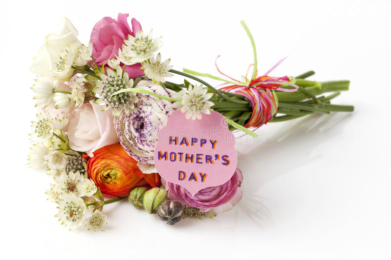 Beautiful Bouquet Of Spring Flowers For Mother\'s Day Stock Image ...