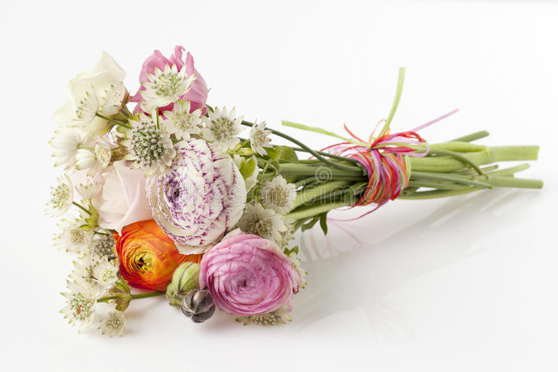 Beautiful Bouquet Of Spring Flowers Stock Photo - Image of gift ...