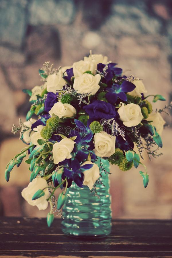 Beautiful bouquet of  wedding flowers royalty free stock photos