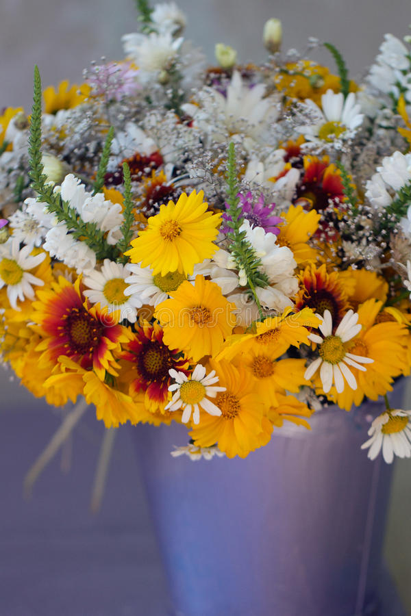 Beautiful bouquet of wild flowers royalty free stock photography