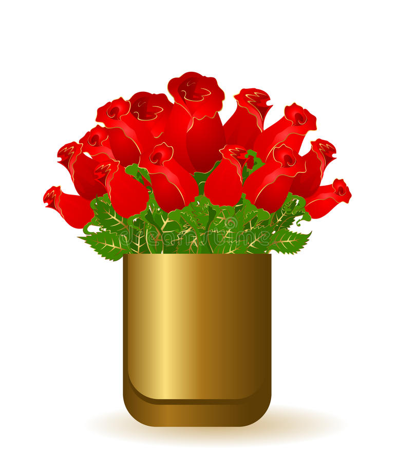 beautiful bouquets from roses vector illustration