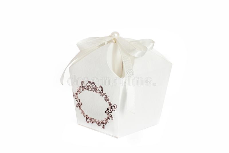 Beautiful box. Box for gift. Creation royalty free stock photo