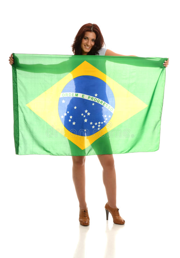 Beautiful Brazilian Fan Royalty Free Stock Images